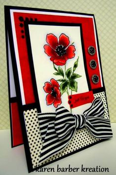 SC330 - SKETCHY POPPIES by Karen B Barber - Cards and Paper Crafts at Splitcoaststampers