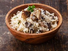 Risotto ai funghi - Wild mushrooms risotto with parsley and parmesan - Credits: Olycom