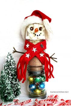 Snowman hot chocolate kits: make them for less than $5 each