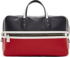 256700004b9 Moncler Gamme Bleu Navy Colorblock Pebbled Leather Duffle Leather Duffle Bag,  Duffle Bags, Travel