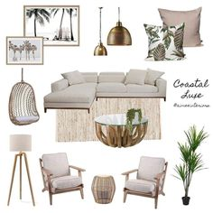 Coastal Living Room Mood Board View this Interior Design Mood Board and more designs by Aimee & Co. Interior Styling on Style Sourcebook. Coastal Living Rooms, Boho Living Room, Home And Living, Living Room Decor, Bedroom Decor, Modern Living, Coastal Bedrooms, Luxury Living, Dining Room