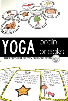 Looking for Daily Physical Activities for your class? These yoga brain break cards will both relax and refocus your students. $ www.teacherspayte...