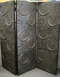 Divider made of tin ceiling tiles