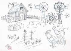 Draw Farm Stuff by ~Diana-Huang on deviantART (great rooster)