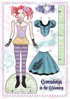 beautiful paper doll