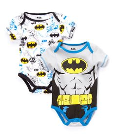 Look at this #zulilyfind! Gray Batman Bodysuit Set - Infant by Batman #zulilyfinds
