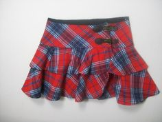 POLO RALPH LAUREN GIRLS SIZE 12 RED PLAID CHRISTMAS HOLIDAY 100% COTTON SKIRT #PoloRalphLauren #Holiday
