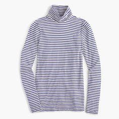 Tissue Turtleneck T-Shirt In Stripe : Women's Turtlenecks | J.Crew