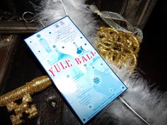 Yule Ball Invitation Ornament! Visit my site for free home use only template downloads ;)