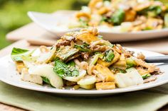 Tofu, Mushroom and Bok Choy Stir Fry