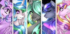 Okay so I have a theory that Chrysalis is Celestia and Luna's Mom but she became corrupted along with some other ponies.<--------Along with King Sombra who may or may not be their father!