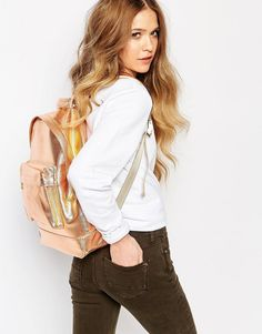 Image 3 ofMi-Pac Metallic Backpack in Rose Gold