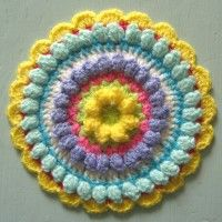 Crochet Mandala Wheel made by Carol, Worcestershire, UK for yarndale.co.uk