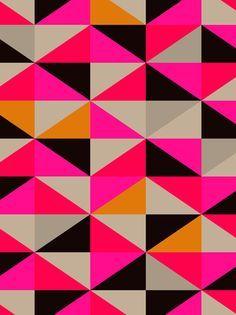 Padrão geométrico. Ótima combinação de cores.