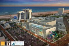 The redevelopment plan by a Pennsylvania-based group proposes transforming the former Atlantic Club casino into a hotel and entertainment complex with two water parks.