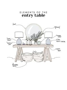 how to perfectly style an entry way + entry table // home decor ideas entry way. how to perfectly style an entry way + entry table // home decor ideas entry way + foyer ideas // h Foyer Design, Deco Design, House Design, Entry Way Design, Design Table, Dining Room Design, Design Design, Design Ideas, Home Decor Styles