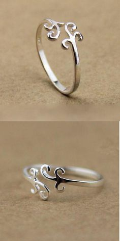 Pretty Simple Cloud Silver Ring for big sale! #ring #silver #cloud #simple