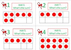 Christmas Ten-Frame Cards for addition and subtraction practice $