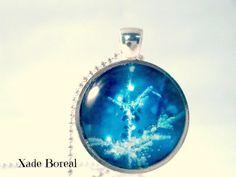 Christmas tree glass pendant necklace