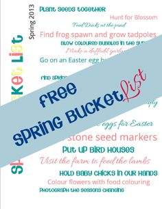 Spring Bucket List Free