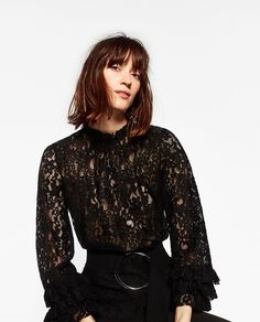 Image 2 of LACE TUNIC WITH FRILLS from Zara