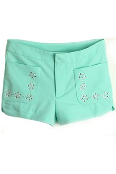 #Romwomen          Candy Color Diamond Shorts