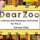 """This file contains literacy and math activities based on the story """"Dear Zoo"""" by Rod Campbell. Included are the following: Story cards:  Oral langu..."""