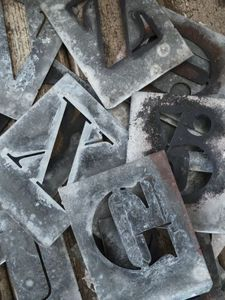zinc letters......I have these.....what to do?