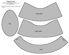Fedora hat pattern for SD BJD by ~scargeear on deviantART