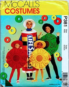 Sewing Patterns For Kids, Sewing For Kids, Candy Costumes, Costume Patterns, Life Savers, Amazon Art, Sewing Stores, Party Gifts, Sewing Crafts
