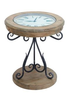 Wood Table Clock - love this!    #rustic