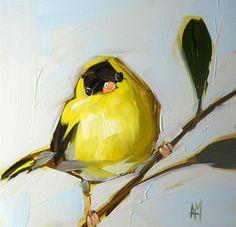 """goldfinch no. 19"" original fine art by Angela Moulton"