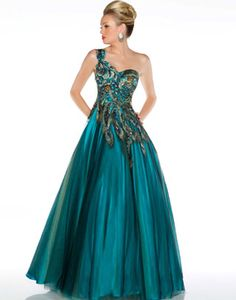 peacock ball gown !!!!