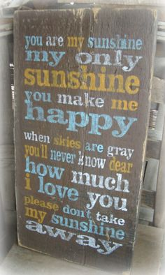 Rustic You are my Sunshinesong lyrics by BarnDanceTradingCo