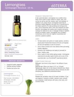 doterra lemon grass     uses | Lemongrass and Melaleuca essential oils are excellent at helping to ...