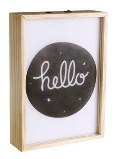 Poster Lightbox madera -  A Litlle Lovely Company - LetrasLuces.com - Nursery - Habitación bebe - Kids Room