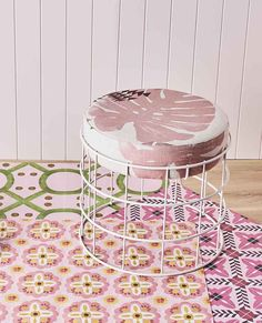 Bonnie and Neil has collaborated with Byzantine Design to produce stunning vinyl floor coverings and porcelain tiles featuring their distinctive designs Vinyl Rug, Vinyl Flooring, Interior Color Schemes, Colour Schemes, Bonnie And Neil, Marble Vinyl, Vinyl Floor Covering, Pink Tiles, Peel And Stick Vinyl