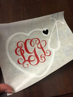 A personal favorite from my Etsy shop https://www.etsy.com/listing/245661195/monogram-stethoscope-nc-state-colors