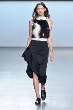 """<p tabindex=""""-1"""">Sally LaPointe spring 2015 collection. Photo: Imaxtree</p>"""