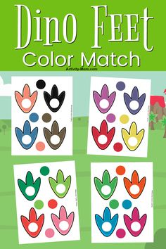 Free Printable Dinosaur Color Matching - The Activity Mom - Dinosaur Color Matching for Toddlers and Preschoolers FREE Printable - Dinosaurs Preschool, Dinosaur Activities, Preschool Colors, Free Preschool, Dinosaurs For Toddlers, Preschool Projects, Daycare Crafts, Kids Crafts, Color Activities For Toddlers
