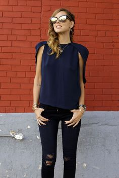 Love this look: Wearing @J Brand in New York- The Blonde Salad #theblondesalad