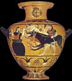 Hydria from Cerveteri, 550-525 BCE