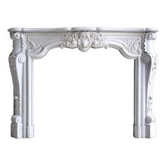 bedroom? French Louis XV style white marble fireplace | From a unique collection of antique and modern fireplaces and mantels at http://www.1stdibs.com/furniture/building-garden/fireplaces-mantels/