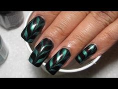 Aubergine & Turquoise Water Marble Nail Art Tutorial (Water Marble March #3)