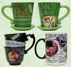 'Alice in Wonderland'-themed Coffee Mugs from Disney Parks - so awesome!