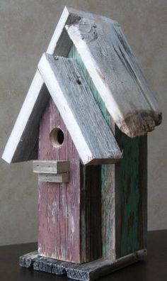Birdhouse from repurposed barn wood