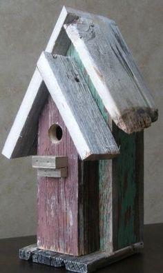 Birdhouse from repurposed barn wood