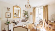Beaumes de Venise Paris apartment in the the 7th arrondissement on Paris' Left Bank, near the famous rue Cler market street and surrounded by cafés, fashion boutiques, restaurants and markets. With toile and chandeliers and juliet balconies, gilded mirrors and herringbone floors, it is one of those places to stay that look like the kind of place that is so perfect, one could move right in.