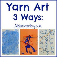 Yarn Art Three Ways: Portuguese Azulejos {Around the World in 12 Dishes} - Alldonemonkey.com