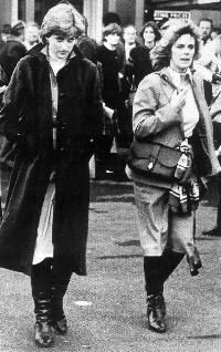 Diana and Camilla at Ludlow Races in 1980